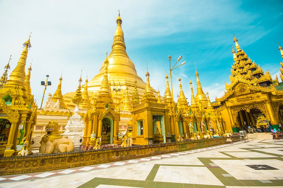 length of shwedagon pagoda