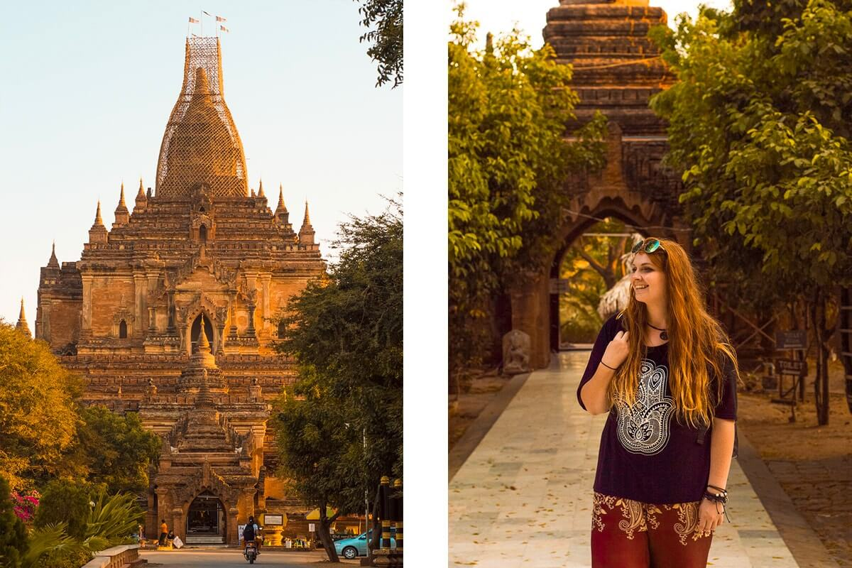 exploring around the pagodas in bagan