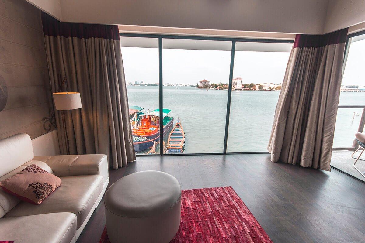 ocean views from xandari harbor where to stay in kerala