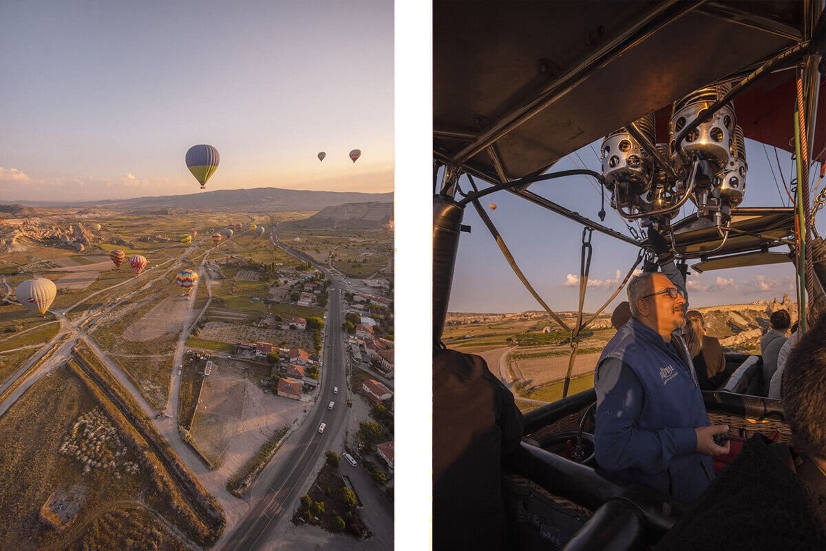 pilot in basket hot air ballooning cappadocia