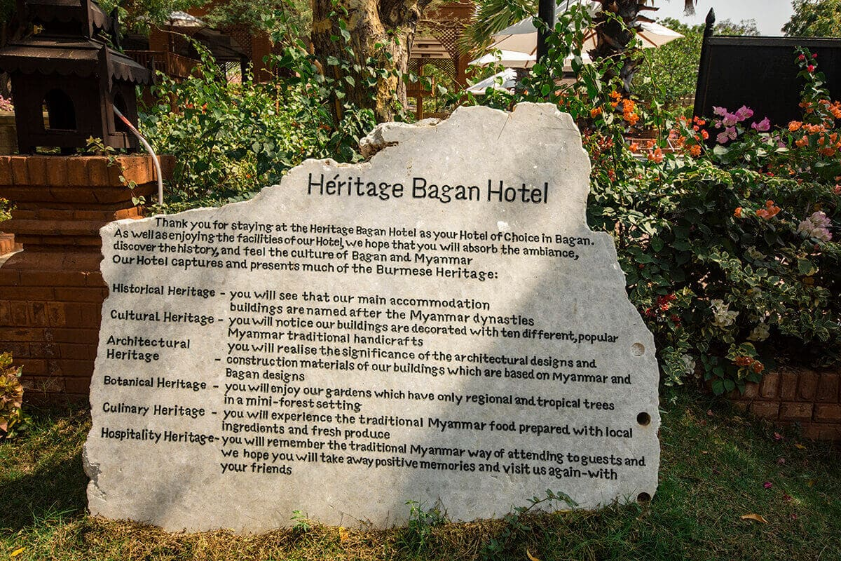 information about heritage bagan hotel review