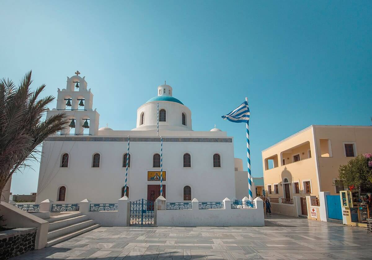 church in oia santorini cost to travel greece