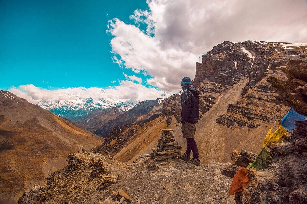 james at view point throng phedi to high camp on the annapurna circuit