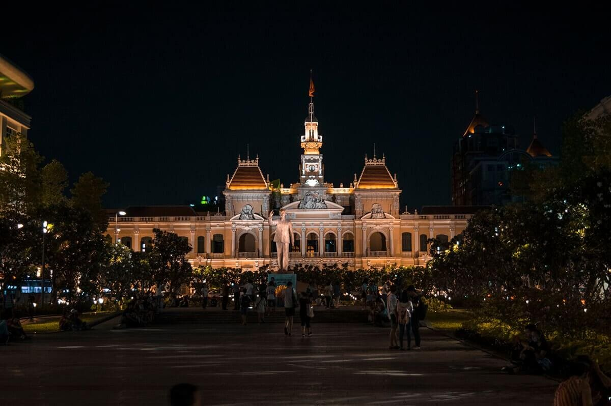 ho chi minh city by night vietnam