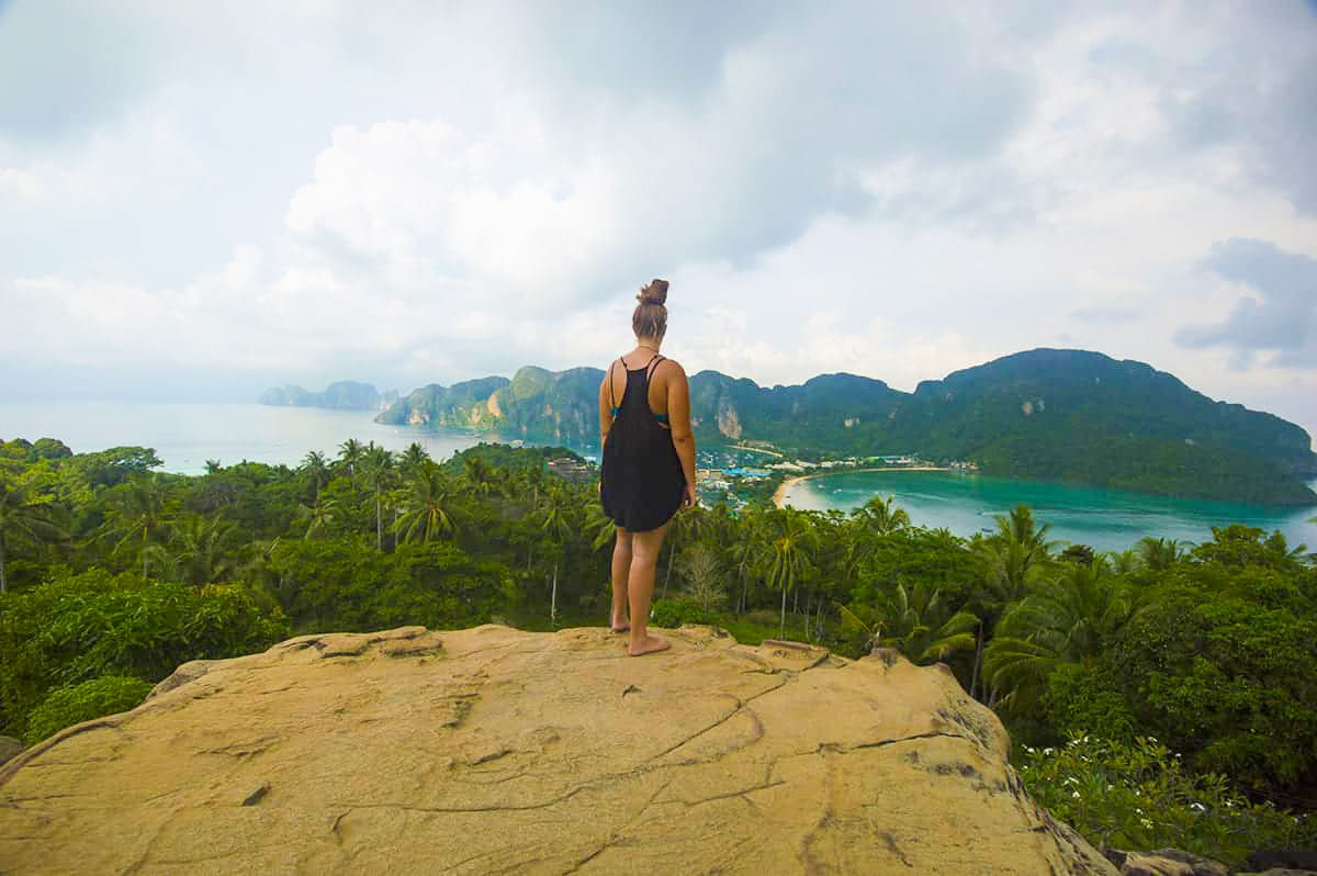 viewpoint at koh phi phi in thailand