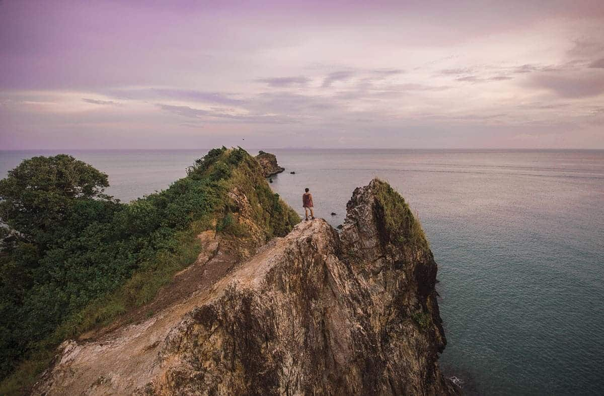 view out to sea on my thailand travel budget