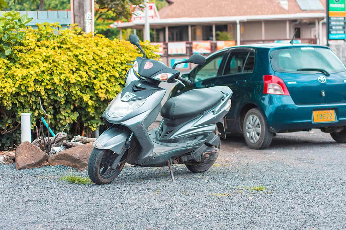 scooter hire in rarotonga and getting a tourist scooter license in rarotonga