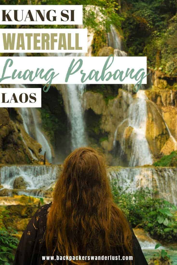Find out absolutely everything you need to know about visiting Kuang Si Falls in Luang Prabang. Learn about how to get there, what to do, entry fees, where to stay, and more!